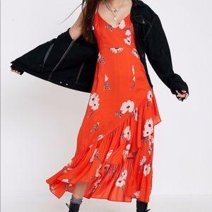 UO Hyper Floral Fireworks Maxi Dress